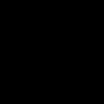 Totenkopf mit Knochen - negativ