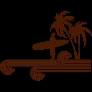 retro surfer palms