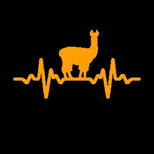 Lama Herzschlag - Tierfreund,Haustier,Geschenk