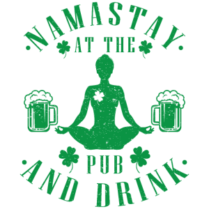 namastay yoga st. patrick's day geschenk