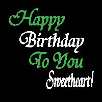 Happy Birthday to You Sweetheart