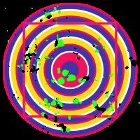 Optische Täuschung Zielscheibe Geschenk Bunte