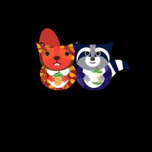 Eichhörnchen Waschbär Pattern Geschenk