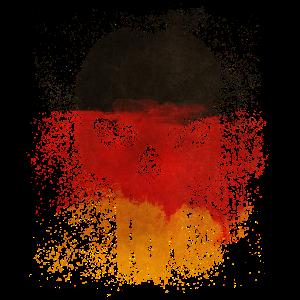 Deutschlandflagge Totenkopf Fahne Schädel Geschenk