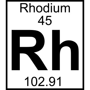 Rhodium (Rh) (element 45)