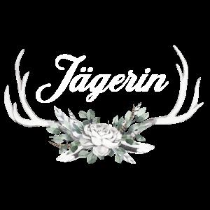 Jägerin | Jäger Weidmannsheil Geweih Blumen