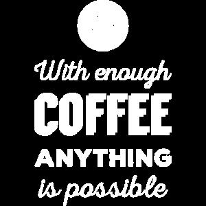 Kaffee Motivation Morgen Spruch - helles Design