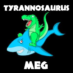 Tyrannosaurus Meg Dino Megalodon Geschenk