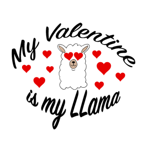 Lama - My Valentine is my LLama - Alpaka alpaca