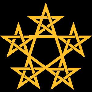 Pentagramm 5 Stern Magie Wicca