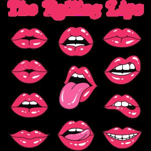 Rollende Lippen Lustige Grafik