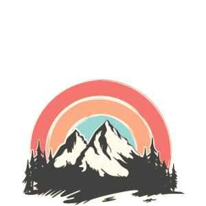 It's Better In The Mountains, Retro Vintage Design