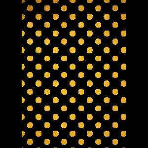 Golden dots polka dots Muster pattern