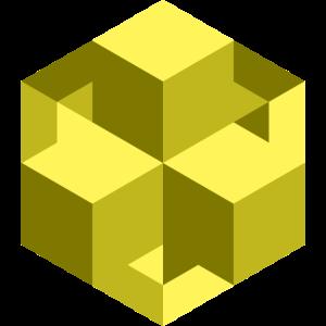2019 02 03 Wuerfel wirr gelb
