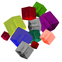 cubes colored