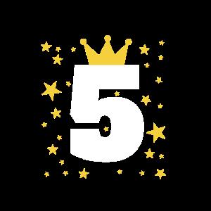 5 Jahre alt mit Krone