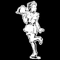 Sexy Pin Up Kellnerin mit Glocke freches Geschenk