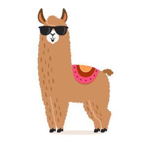 Happy Life Lama T-Shirt Alpaca