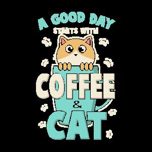 Kaffee und Katze