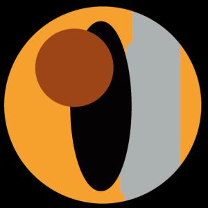 Kreis mit Elipse schwarz