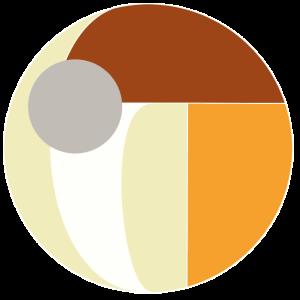 Kreis mit Formen weiss