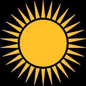 Sonne, Strahlen, Kranz, Dein Design, Rahmen, Text