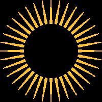 Strahlen, Kranz, Sonne, Dein Design, Rahmen, Text