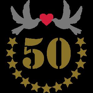 Goldene Hochzeit 50. Geburtstag Hochzeitstag