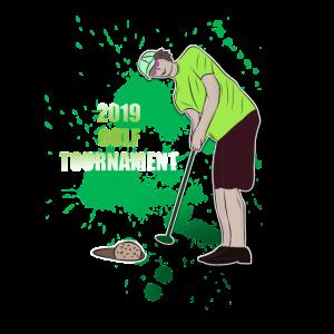 2019 golf Turnier Golfspieler Einlochen