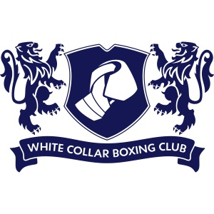 "White Collar Boxing Hoodie ""Classic-Blue"""