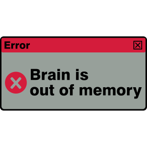 Brain out of memory - Error