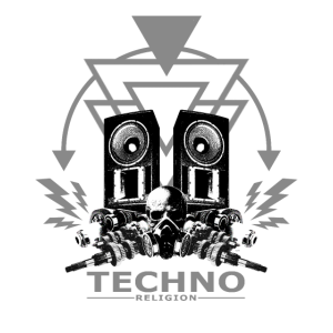 Techno Religion Gabber Hardstyle Totenkopf Shirt