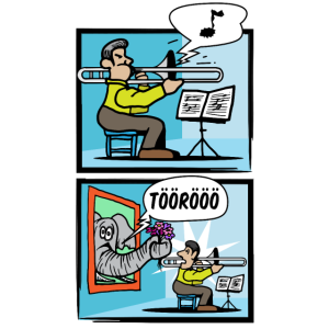 Trompete Musikinstrument Blasinstrument Cartoon