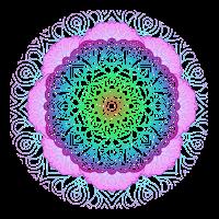Mandala rosa blau