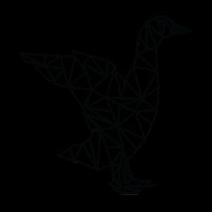 Gans / Ente in Vektoroptik