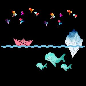 Kunstvolle Origami Welt