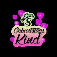Geburtstagskind 8 Jahre mit Krone