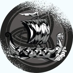 Viking boat comic
