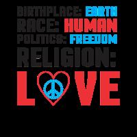 Frieden Erde Religion Liebe Menschen Geschenkidee