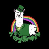 Lama St Patricks Tag Kleeblatt Grüner Hut Geschenk