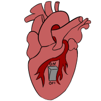 Herz mit Schalter - Heart with switch