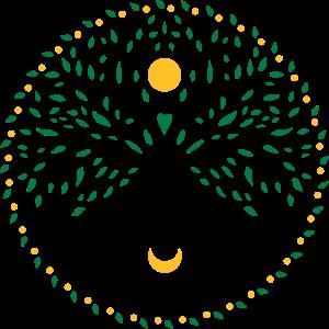Yggdrasil, Baum des Leben, Sonne und Mond