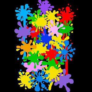 Karneval Kostüm Faschingskostüm Maler Farbkleckse