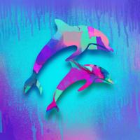 delfin duo graffiti