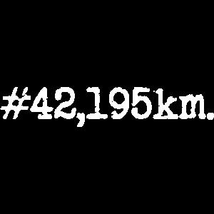 42 Kilometer Hashtag Marathon Distanz Lauf Joggen