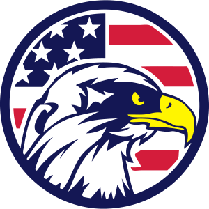 Amerikanischer Flaggenkreis des Adlers 4022