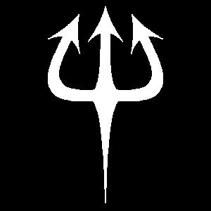 Dreizack Silhouette Symbol Teufel Hölle Unterwelt