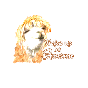 Wake up be Awesome - Alpaka Lama Geschenk Spruch