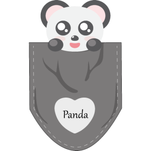 Panda in my pocket