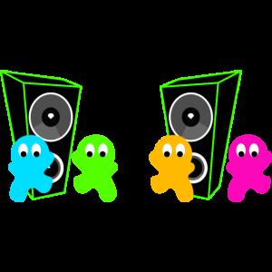 Tanzende Männchen Lautsprecher